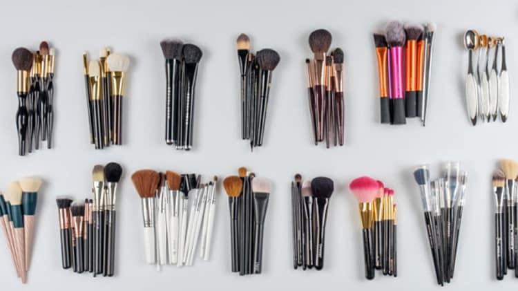 5 melhores marcas de pincéis de maquiagem